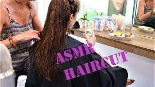 ASMR AT THE HAIRDRESSER - I GET A HAIRCUT -