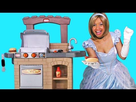 Cinderella's BBQ Party !    Disney Toy Review    Konas2002