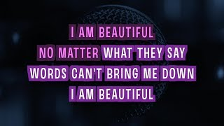Beautiful Karaoke Version by Christina Aguilera (Video with Lyrics)