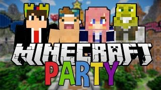 Minecraft Party Time With Friends | Mini Games