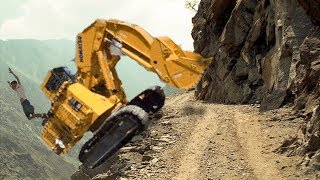 Dangerous Idiots Construction Excavator Trucks Heavy Equipment Fails / Win & Operator Extreme Skill