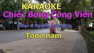 Chiếc Bóng Công Viên Karaoke Tone Nam