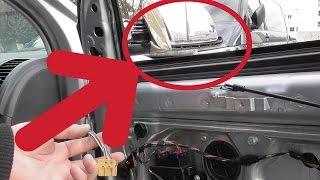 Außenspiegel wechseln, erneuern, reparieren Tutorial [HD] VW Polo 9N / exterior mirrors