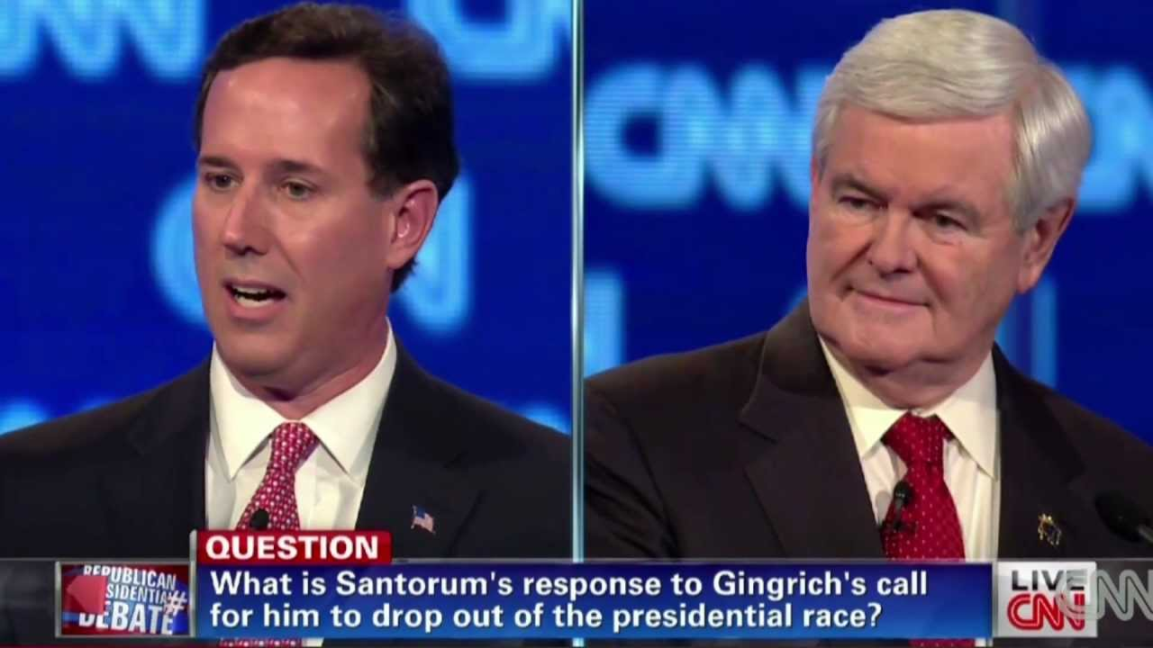 Santorum Hits Gingrich at Republican Presidential Debate thumbnail