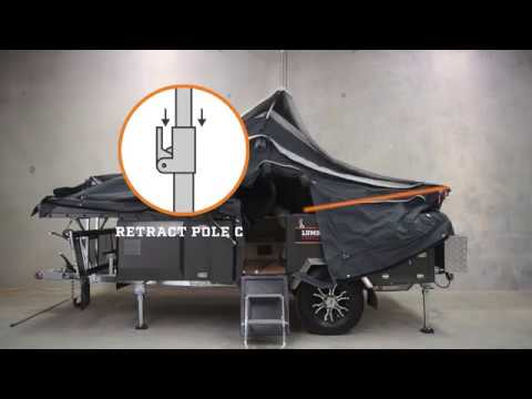 How to close Johanna Camper Trailer