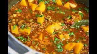 Stewed Lentils #MeatFreeMonday | CaribbeanPot.com