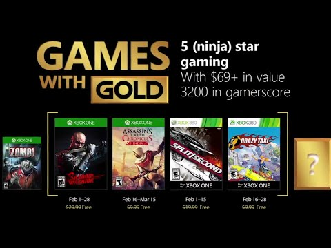 Games With Gold February 2018 / Juegos Con Gold Febrero 2018