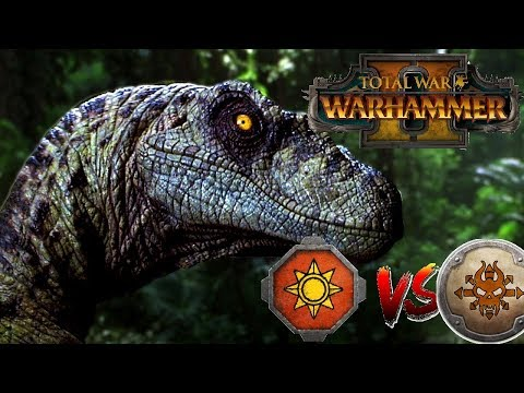 CLEVER GIRLS | Lizardmen vs Norsca - Total War Warhammer 2