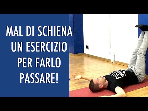La terapia esercizio video in video osteocondrosi cervicale
