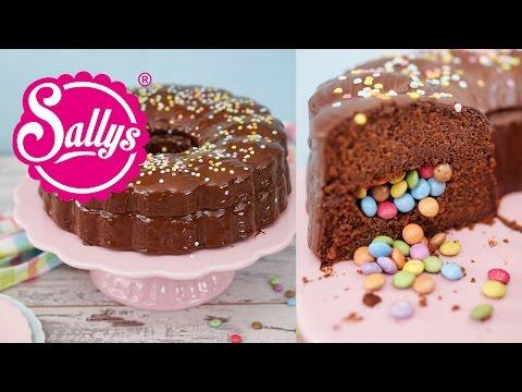 Schokoladenkuchen mit Süßigkeitenfach / Geburtstagskuchen