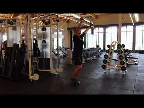 Reverse Lunge Cable Overhead Press