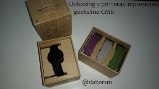 Review geeks!me GME1 smartwatch