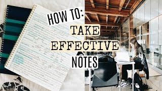 HOW TO TAKE EFFICIENT NOTES THAT ACTUALLY HELP YOU LEARN!