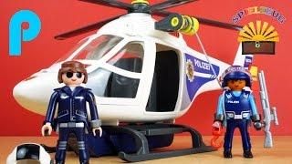 Polizei Helikopter mit LED-Suchscheinwerfer 6874 - Playmobil City Action - Film Police auspacken