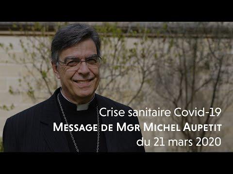 Message de Mgr Michel Aupetit du 21 mars 2020