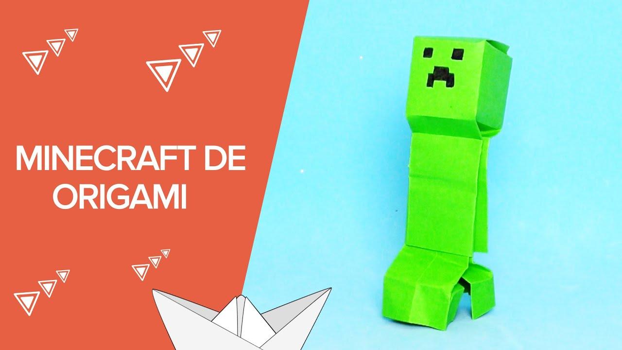 Cómo hacer un Creeper de Minecraft paso a paso | Origami para niños