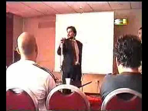 Matthew Smith talks at the CGEXPO 2004