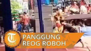 Video Panggung Reog di Sidoarjo Roboh, Pemusik Berjatuhan dan Penonton Histeris