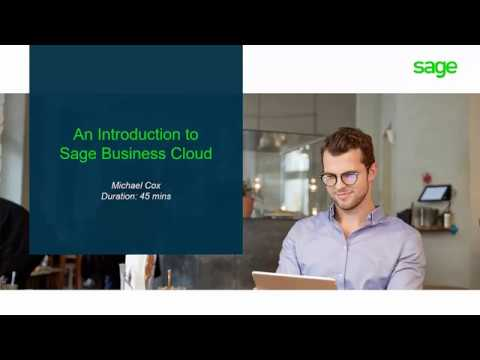 Sage Business Cloud Accounting (UK) - Introduction