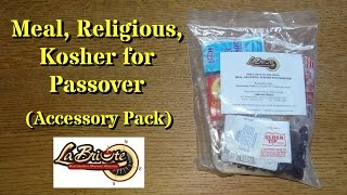 MRE Review: Meal, Religious, Kosher for Passover (Accessory Pack Only)