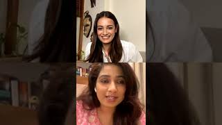 Shreya Ghoshal With Dia Mirza Instagram Live Session
