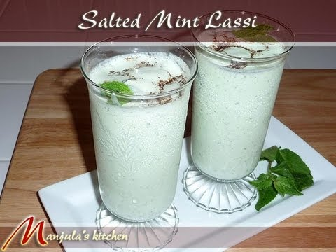 Video Salted Mint Lassi, Indian Yogurt Drink Recipe by Manjula