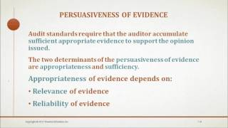 Auditing and Assurance Services Chapter 7 (Audit Evidence)