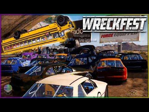 *NEW* DRYTOWN DESERT AND SCHOOL BUS LOOP CHALLENGE! | Wreckfest