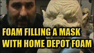 foam filling masks with home depot foam