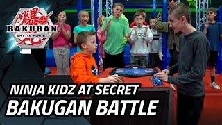 Ninja Kidz Visit A Secret Bakugan Battle Championship!