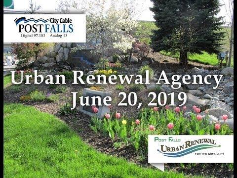 Post Falls Urban Renewal Agency Meeting - June 20, 2019