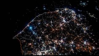 End of The Winter Olympics - South Korea / North Korea seen from the International Space Station