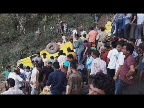 23 children killed when school bus plunges into gorge in India