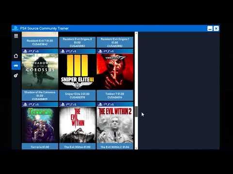 Tutorial Cara Cheat Modding Game PS4 HEN 5 05 - смотреть