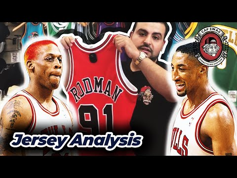 725d6a34460 Dennis Rodman and Scottie Pippen 🔥 Mitchell and Ness Swingman Jersey  Review - YouTube