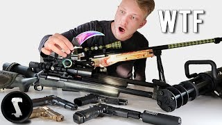 Silo's Crazy Airsoft Weaponry Collection (Landmine, Minigun, Karambit Fade)