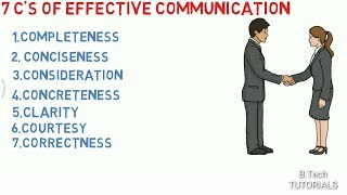 7 C's of Effective communication.