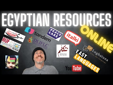 Egyptian Arabic – GREAT online resources for learning Egyptian Arabic (مصري)
