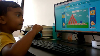 Learn and Identiify Alphabets with Cup Stacking Keyboard Typing Game