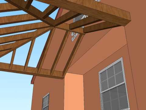 Como cortar los tirantes para techos a tres aguas for Techos a tres aguas fotos