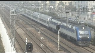 preview picture of video '[China Railway]CRH1E(D5606)&DF11G+25T(T49) Jinghu Line Extra Trains 2010年清明節京滬線臨客'