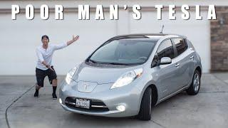 I Made my Nissan Leaf look like a Tesla Because I Can't Afford One