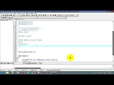 Video 30 -[Đệ qui]:Tìm số Fibo thứ n