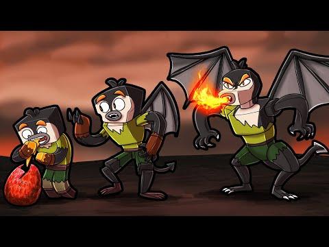 Transforming into a DRAGON! (Minecraft Dragons)