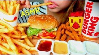 *No Talking* ASMR Burger King WHOPPER 🍔🍟 Mukbang 먹방 French Fries & Chicken Fries - Video Youtube
