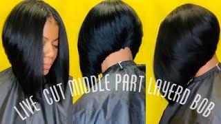 Middle Part Layered Bob Cut | Zury Hair