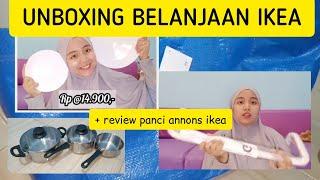 UNBOXING BELANJAAN IKEA + REVIEW PANCI ANNONS IKEA