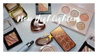 Playing With New Highlighters | NARS, Too Faced, Tom Ford, Cover FX + MORE
