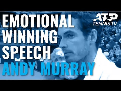 Andy Murray's Emotional Speech After Title Win! | Antwerp 2019