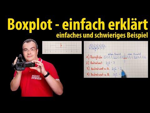 Cover: Boxplot - einfaches und schwieriges Beispiel   Lehrerschmidt - YouTube